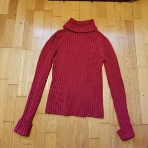 Hillard & Hanson Raspberry Knit Sweater